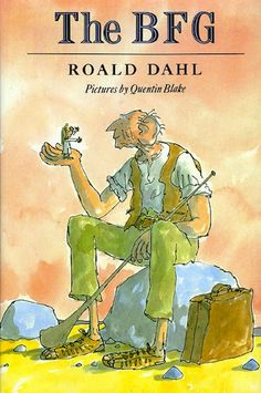 The BFG by Roald Dahl. Kidsnatched from her orphange by a BFG (Big Friendly Giant), who spends his life blowing happy dreams to children, Sophie concocts with him a plan to save the world from nine other man-gobbling cannybull giants. The Bfg Book, Book Club Books, Book Lists, Good Books, Books To Read, Amazing Books, Bfg Roald Dahl, Roald Dahl Books, Book Authors