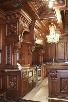 Most beautiful kitchen youll ever see Elegant Kitchens, Luxury Kitchens, Beautiful Kitchens, Home Kitchens, Küchen Design, Layout Design, House Design, Interior Design, Cottage Shabby Chic