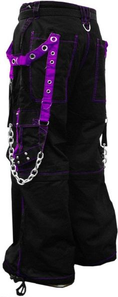 "$85.00 Amazon.com: Tripp ""Stryker"" Bondage Pants (Black/Purple) #9 (X-Large (40-42 inches), Black / Purple): Clothing 