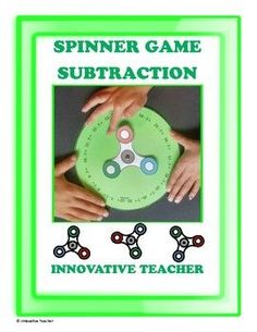 Tell your students to leave their fidget spinners at home, because I've got you covered. This subtraction spinner game is fun and addicting. Fidget Spinner Included!