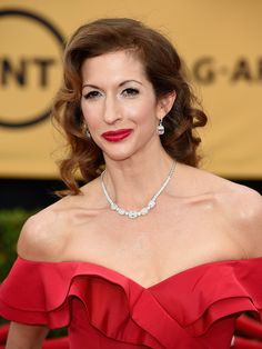 Alysia Reiner's Glamour Girl Curls and Ruby Red Lips