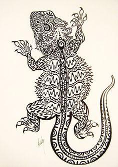 zentangle bearded dragon - Google Search