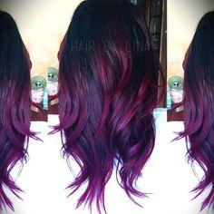 Image result for purple and black balayage