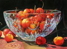 Heart of Cherries watercolor by Soon Y Warren