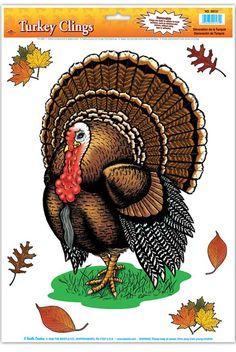 Thanksgiving Turkey Window Clings - Party Depot