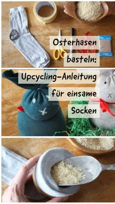 Osterhasen basteln ღ aus alten, einsamen Socken selber Hasen basteln Tinkering Easter bunnies can be so easy: all you need is a pair of old socks. They can also be solo - for example, if the was Edible Wedding Favors, Sock Toys, Diy Crafts For Kids, Easter Bunny, Rabbit, Eat, Partner, Kindergarten, Alice