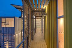 the project of the house from containers