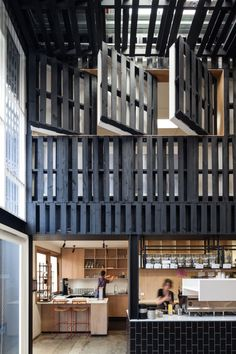 The best cafe, bar and restaurant designs of 2014 gallery - Vogue Living Industry Beans (Vic) by Figureground Architecture.