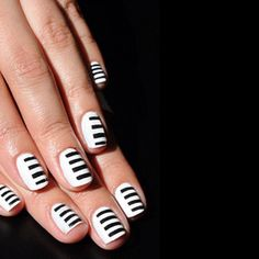 Piano Keys Nail Art