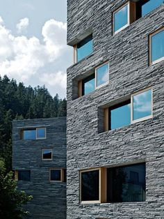Domenig Architekten have designed the Rocksresort in Laax, Switzerland