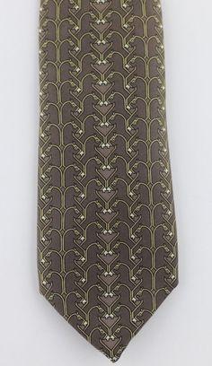 e15783a1729f Hermes 876 PA Horses HeadsBrownGoldBlackWhite Vintage Silk Short Tie VG  #fashion #clothing #shoes #accessories #mensaccessories #ties (ebay link)