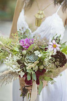 boho styled wedding at the Elmwood Park Zoo fall themed wedding bouquet  Wedding With Kids d505d3fd41ec