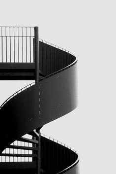 black stair.