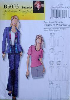 Butterick 5053 Sewing Pattern Misses Jacket Blouse Pants 3 4 6 8 10 12 14 16