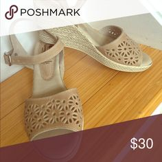 Spring step beige Wedges Worn once. Like new. They are so light, you won't feel them !  Made in Italy.                       🚨Anxious to clean out my closet 🚨       Almost all prices are not firm. Welcome all reasonable offers 👏🏻  Want to save more? I have customize discount for each Posher.  Make a bundle  of at least 2 items and lets talk about your price 😜 Shoes Wedges