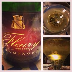A few bubbles to relax - #winelover Fleury Carte Rouge some serious #champagne forgotten for a few years in my cellar a delicacy - biodynamic farming and Brut based on Pinot Noir - a #wine with character