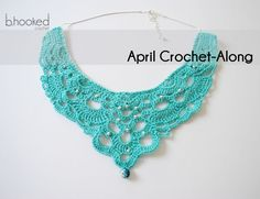 This necklace uses crochet thread, but you can easily use Lion Brand Bonbons as a substitute. Pattern by B Hooked Crochet.