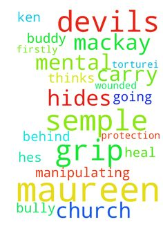 Father.  God please please the Devils grip of me Maureen - Father. God please please the Devils grip of me Maureen semple firstly I dont have to carry Ken Mackay he is a bully and hides behind going to church hes been manipulating mental torturei and thinks that HE IS Gods buddy Father God I Maureen semple ask for your protection and please please heal where he has wounded me in Jesus name amen Posted at: https://prayerrequest.com/t/QCB #pray #prayer #request #prayerrequest