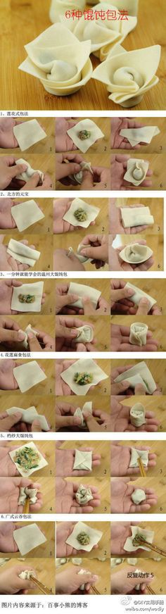 Do You Like Chinese wontons (dumpling soup)? This is a 5 ways how to make wonton. Try it @ home very easy! 🙂 Do You Like Chinese wontons (dumpling soup)? This is a 5 ways how to make wonton. Try it @ home very easy! How To Make Wontons, Soup Recipes, Cooking Recipes, Decoration Patisserie, Chinese Dumplings, Oriental Food, Snacks Für Party, Homemade Pasta, Asian Cooking