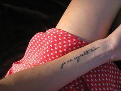 Arm tattoo: je ne regrette rien.
