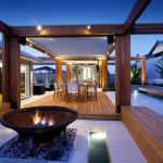 Stylish Backyard With Teak Decking