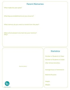 Printable End of School Time Capsule Questions  on TodaysMama.com