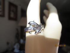 Vintage 925 Sterling Silver Trio Dolphin Ring Size 9, Weight 4.1 Grams