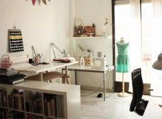 Craft Room Workspace of A Wonderful Modern Workspace Inspiration from Home Office Designs Workspace Design, Home Office Design, House Design, Office Designs, Craft Room Design, Room Interior Design, Craft Space, Workspace Inspiration, Room Inspiration