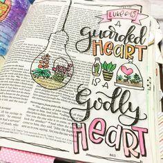 Bible Journaling by @ps348girl | Luke 6:45