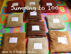 Mom to 2 Posh Lil Divas: Jumping to 100 - Another 100th Day of School Activity