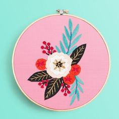 26 Hand Embroidery Patterns Ready to Download and Start Sewing Hand Embroidery Tutorial, Embroidery Flowers Pattern, Embroidery Transfers, Learn Embroidery, Embroidery Patterns Free, Silk Ribbon Embroidery, Embroidery For Beginners, Hand Embroidery Patterns, Embroidery Techniques