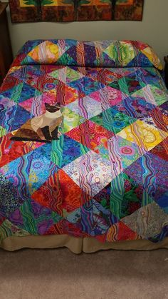 """Kaffe Fassett fabric and """"Funky Stripes"""" pattern by Lori Allison"""