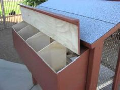 ▶ DIY Build a Chicken Coop - Important Tips for an effective solution to your chicken hosuing needs - YouTube I like the ledge overlap on the next box doors~LAdy Bren