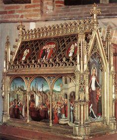 1489 - El Relicario de Santa Ursula - Goswijn Van der Weyden - madera dorada policromada - Memlingmuseum - Hospital de San Juan de Brujas