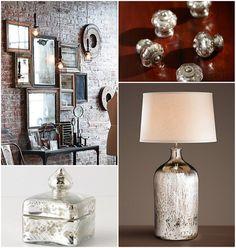 DIY mercury glass knobs, vases, mirrors, etc
