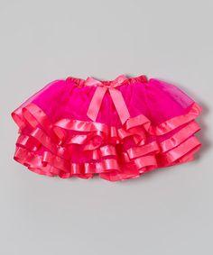 Hot Pink Organdy Tutu - Infant, Toddler & Girls #zulily #zulilyfinds