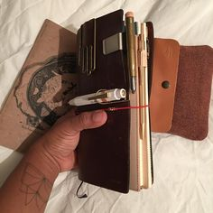 Diary 2017 starts on December 12th!! Getting the #EDC ready.... nice and chunky! Just the way I like it! #chunky #midoritravelersnotebook #midoritravellersnotebook #leather #notebook #diary #planner #journal #stationery #stationeryjunkie #create #write #organize #loveforanalogue #recordlife #warsanshire #poetry #poet #travelersfactorypouch #travelersfactory #pencilcase