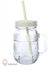 Bake in | Pastel Drinking Jar with Straw www.bakein.pl