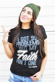 99 Problems but my FAITH ain't one is based on Hebrews 11:1 Now faith is being sure of what we hope for and certain of what we do not see. Visit is online at www.jcluforever.com