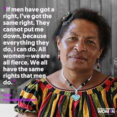 All women - we are all fierce.