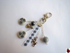Porte clé Bijou de sac Triskel en fimo -Défi du Mois d'Avril Sandrine la licorne : Autres bijoux par sweet-cocci