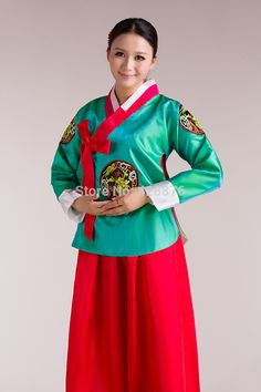 ZZB061 Photography palace of the Korean minority in present  South Korea's national tradition costume suit #Affiliate