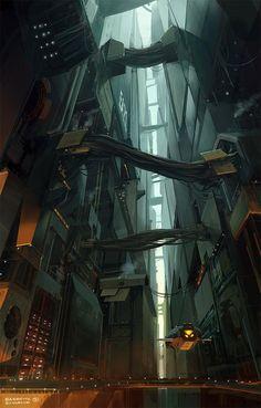 Concept art by Fabs. Keywords: concept sci-fi science fiction space scenes concept environments art by fabio barretta zungrone irvine. 3d Fantasy, Fantasy Landscape, Fantasy World, Fantasy Dragon, Arte Sci Fi, Sci Fi Art, Environment Concept Art, Environment Design, Bg Design