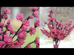 French beaded flowers: cherry blossoms PART 1 - YouTube