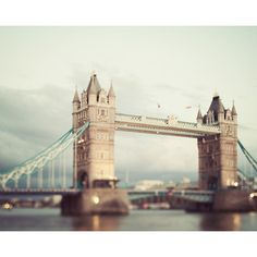 London Tower Bridge, London Photography, British Decor, Thames River,... ($135) ❤ liked on Polyvore featuring backgrounds, pictures, london, pics and places