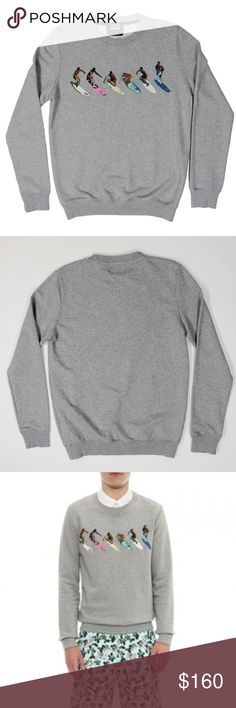 "Markus Lupfer Sweatshirt Embroidered Surfers Top M Markus Lupfer Men's Sweatshirt Gray Long Sleeves Crew Ribbed Neck Ribbed Cuff & Hem Top Embroidered Surfers Size: M Medium  Shoulder: 17.5""  Sleeves: 26.5""  Pit to Pit: 21""  Length: 27.25""  Condition: Excellent.  Like New! Comes from a pet and smoke free environment!  Please review pictures and contact me if you have any questions. Color: Gray Pattern: Sufer Material: 100% Cotton Country: Portugal Care: Machine WT: 1.03 CSKU: 749; 4…"