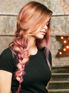 Color Melting Hair in Rose Gold Melt. We love!