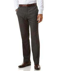 Kenneth Cole Reaction Dress Pants, Mini Herringbone Slim Fit - Mens Pants - Macy's