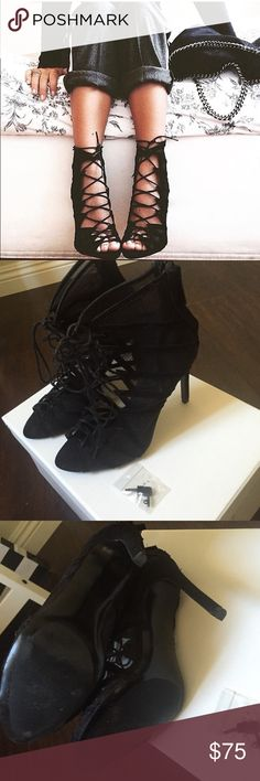 Zara Mesh Shoes  2x Host Pick Worn 2-3 times, includes extra heel tacks. Zara labeled at size 38, I usually wear a size 7 but buy size 38 (7.5) at Zara since they only do half sizes. Zara Shoes Lace Up Boots