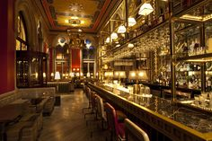 """Bar Termini (Soho, London, UK) : """"...provides a pale blue, vintage Italian haven for coffee and cocktail fans."""" ~ Highball Hoodoo"""